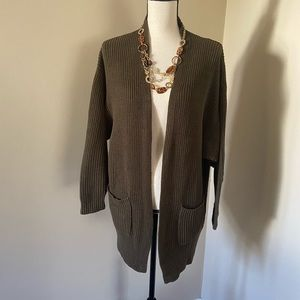 Express sweater olive green size XS